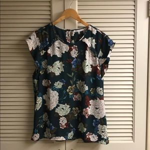 DR2 chiffon cap sleeve blouse